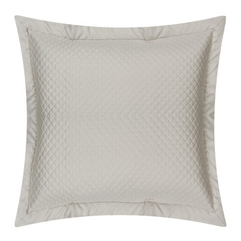 Wyatt Quilted Oxford Pillowcase - Silver