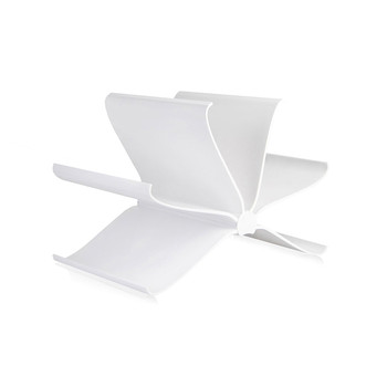 Front Page Magazine Rack - Glossy White