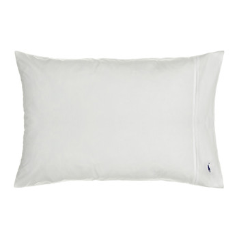 Polo Player Pillowcases - White - Set of 2