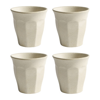 Bamboo Cups- Set of 4 - Cream