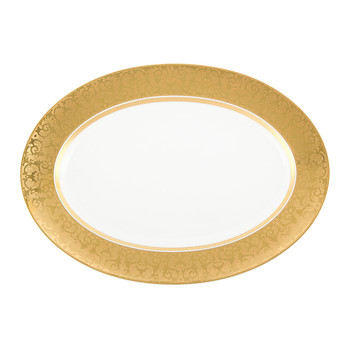 Medusa Gala Gold Serving Platter - 40cm