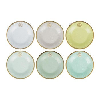 Lizzard Dessert Plates - Set of 6 - Sunrise
