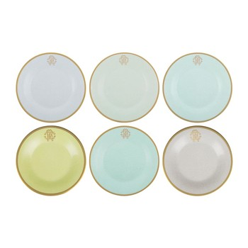 Lizzard Bread/Butter Plates - Set of 6 - Sunrise