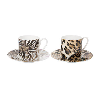 Africa Zimbabwe/Djerba Coffee Cups & Saucers - Set of 2