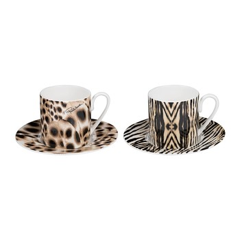 Africa Casablanca/Malindi Coffee Cups & Saucers - Set of 2