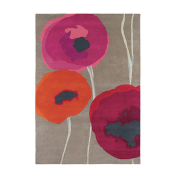 Poppies Red/Orange Rug
