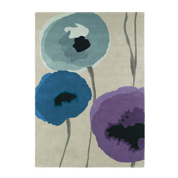 Poppies Indigo/Purple Rug