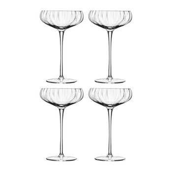 Aurelia Champagne Saucers - Set of 4