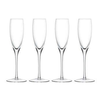 Wine Champagne Flutes Set of 4