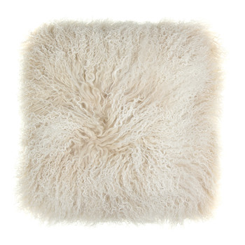 Tibetan Sheepskin Cushion - 40x40cm - Arctic Sunrise