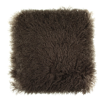 Tibetan Sheepskin Cushion - Taupe
