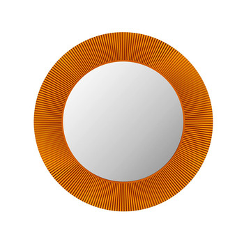 All Saints Round LED Mirror - Amber