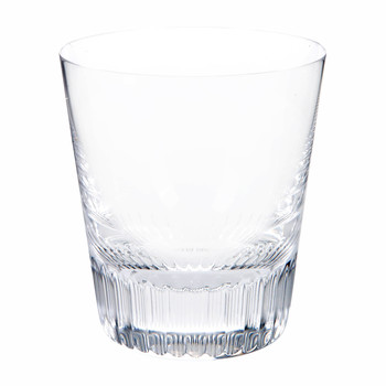 Conus Double Old Fashioned Trinkglas - Rillenschliff - Transparent