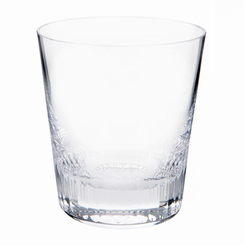Conus Old Fashioned Tumbler - Cut Grooves - Clear