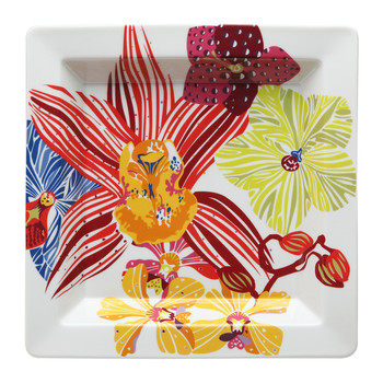 Flowers Square Tidy Tray