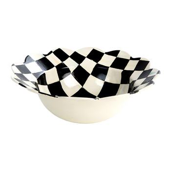 Courtly Check Petal Serving Bowl