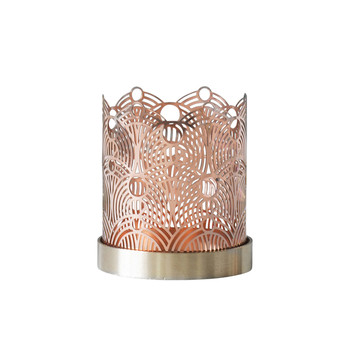 Small Lunar Candle Holder - Copper