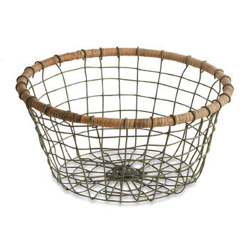 Koba Bowl - Grey & Wicker - Small Round