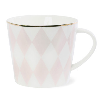 Harlequin Ceramic Coffee Mug - Rose