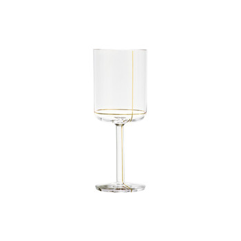 White Wine Glass - Gold Line