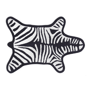 Zebra Bath Mat - Black