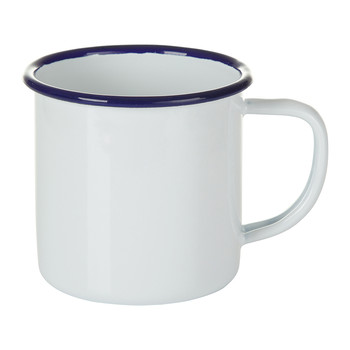 Mug - Original White with Blue rim