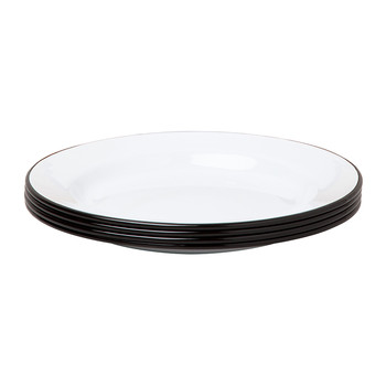 Plate Set - Set of 4 - Coal Black rim