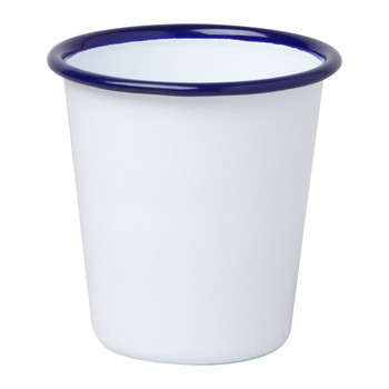 Tumbler - Original White with Blue rim