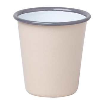 Tumbler - Beige with Grey rim