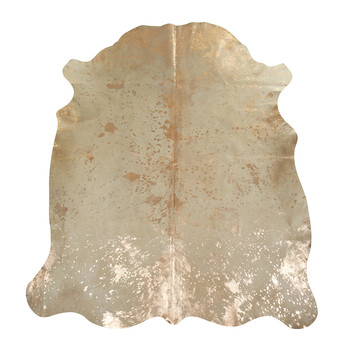 Acid Burnt Cowhide Rug - Beige/Bronze