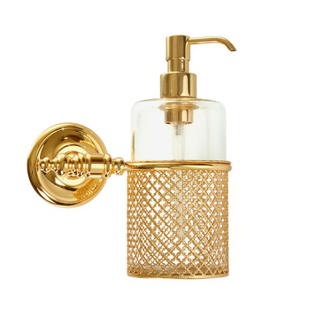 Firenze Wall Soap Dispenser - Full Antique Gold