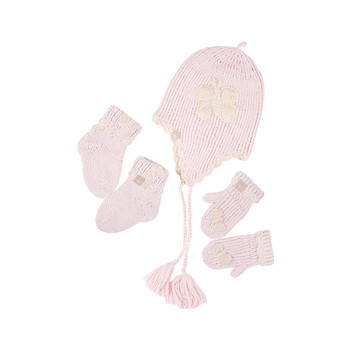 Hat/Socks/Mitts Gift Set - Pink