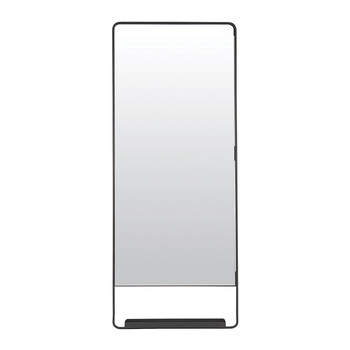 Chic Mirror with Shelf - Black - 45x110cm
