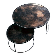 heavy-aged-mirror-coffee-table-set-round-bronze