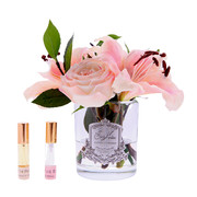 lillies-roses-in-clear-glass-blush