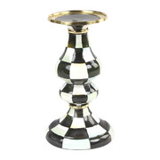 courtly-check-enamel-pillar-candlestick-medium