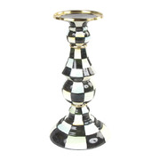 courtly-check-enamel-pillar-candlestick-large