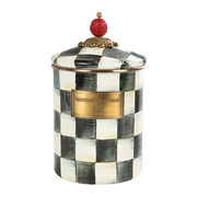courtly-check-enamel-canister-medium