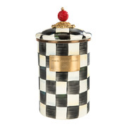 courtly-check-enamel-canister-large
