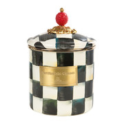 courtly-check-enamel-canister-small