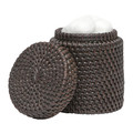 Pigeon & Poodle - Dalton Rattan Canister - Coffee
