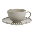 Retreat - Luis Stoneware Teacup & Saucer - Taupe