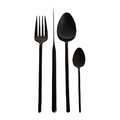 Essentials - Broadway Shiny Black Cutlery Set