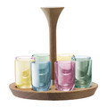 LSA International - Polka Assorted Vodka Shot Glasses - Set of 8 - Pastel