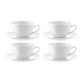 LSA International - Dine Curved Cappuccino Cups & Saucers - Set of 4