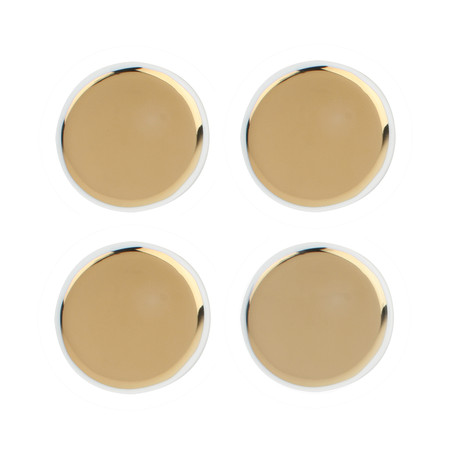 Canvas Home - Dauville Coasters - Set of 4 - Gold