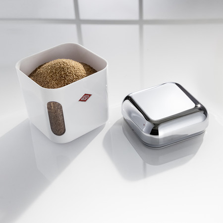 Wesco - Square Canister with Window - White