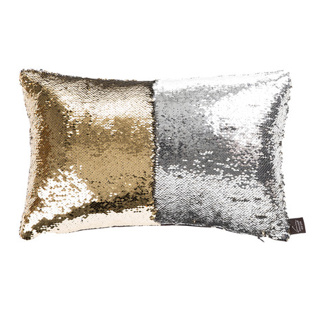 acheter aviva stanoff coussin sequin deux tons sir ne argent or 30x45cm amara. Black Bedroom Furniture Sets. Home Design Ideas