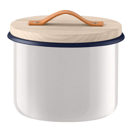 LSA International - Utility Container & Ash Lid - Milk White - 18cm