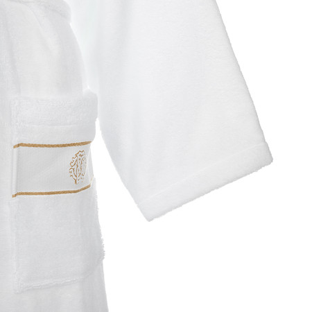 Roberto Cavalli - Gold Shawl Bathrobe - White